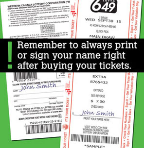 Sign your ticket